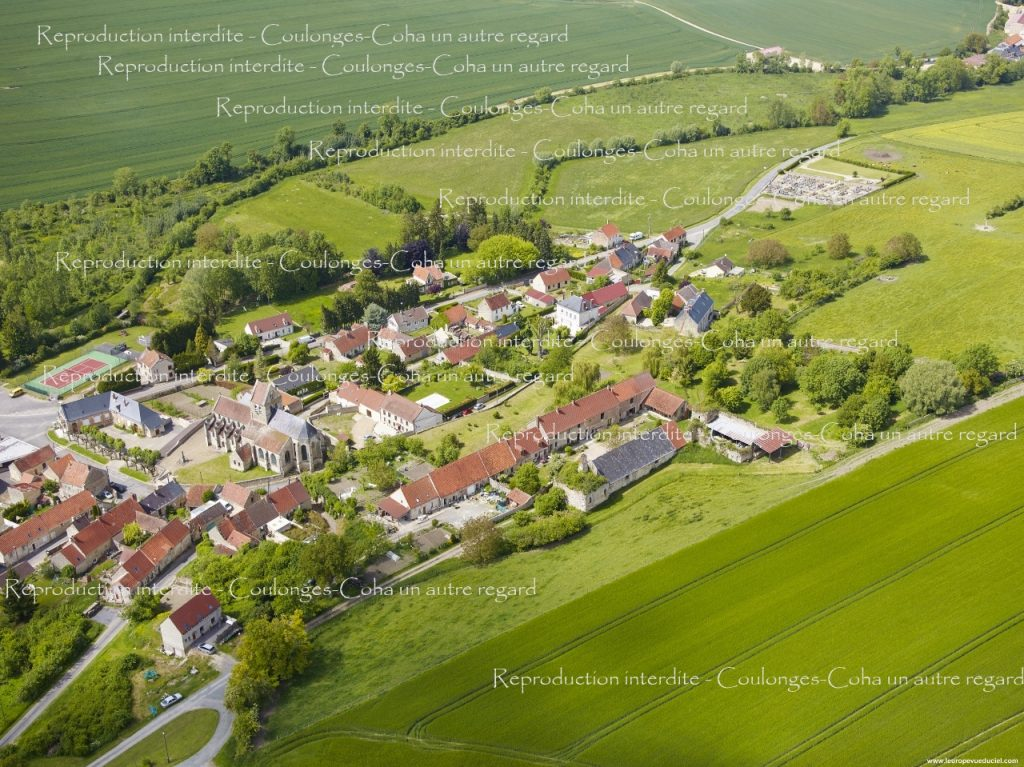 n°24 - Coulonges : Eglise et château de Rognac depuis le château